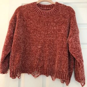 Sweaters - Blush velvet sweater